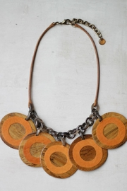 Sylca Orange Wooden Necklace - Product Mini Image