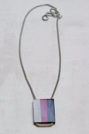 Sylca Tricolor Wood Pendant - Front cropped