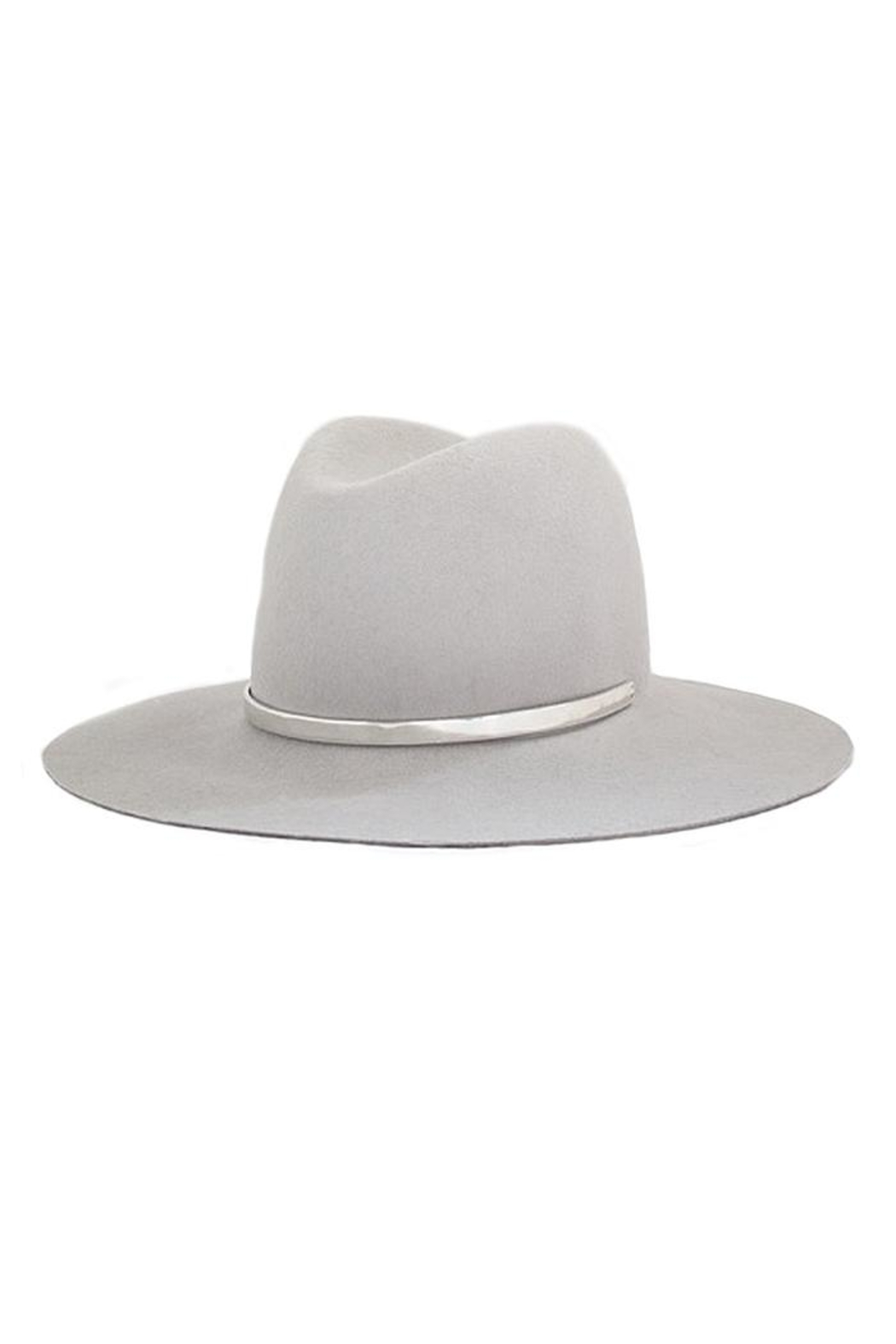 Janessa Leone Sylvar Silver Hat - Front Cropped Image