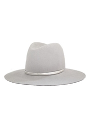 Janessa Leone Sylvar Silver Hat - Front cropped
