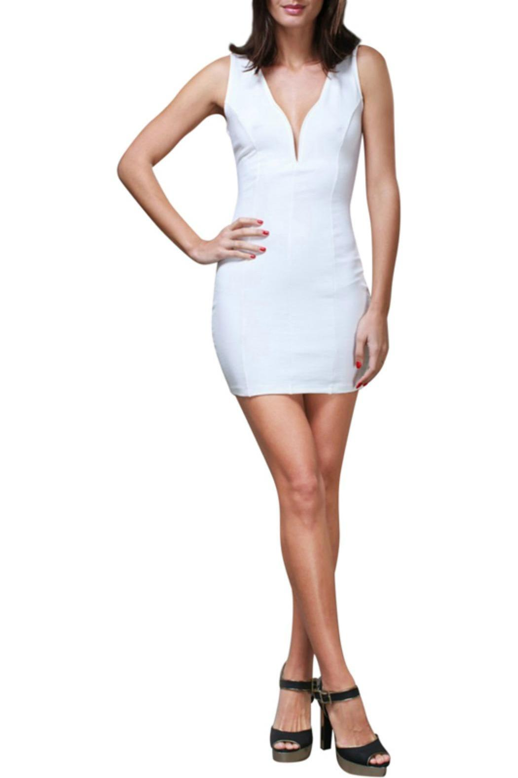 Symphony Deep V Bodycon Dress - Main Image