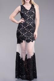 Symphony Sheer Lace Maxi - Front cropped