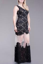 Symphony Sheer Lace Maxi - Side cropped