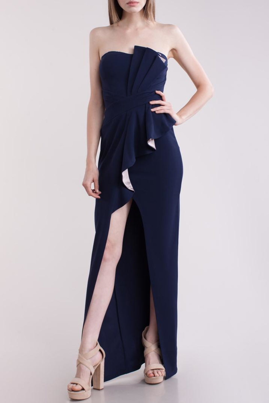 Symphony Bustier Maxi-Dress - Front Cropped Image