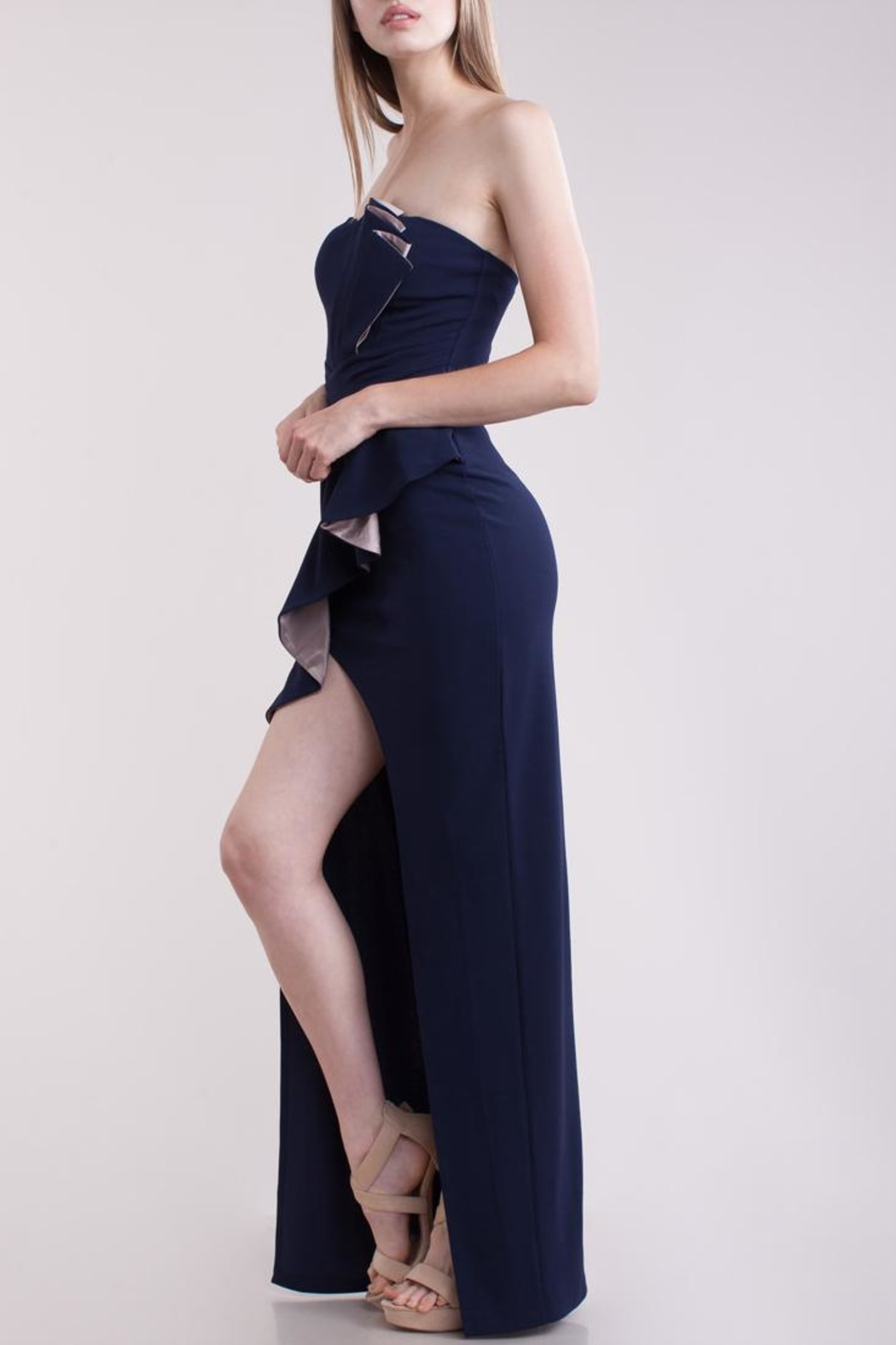 Symphony Bustier Maxi-Dress - Front Full Image