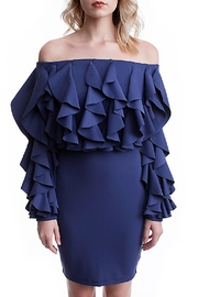 Symphony Mini Ruffle Dress - Product Mini Image