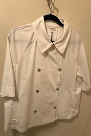 Symphony White Cropped Jacket - Product Mini Image