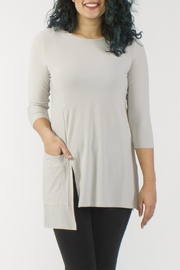 Sympli Oatmeal Tunic - Product Mini Image