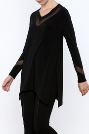 Sympli Mix V-Neck Tunic - Product Mini Image