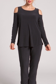 Sympli Black Cozy Long Top - Product Mini Image