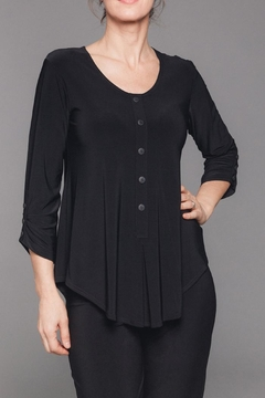 Sympli Unity Henley Top - Alternate List Image