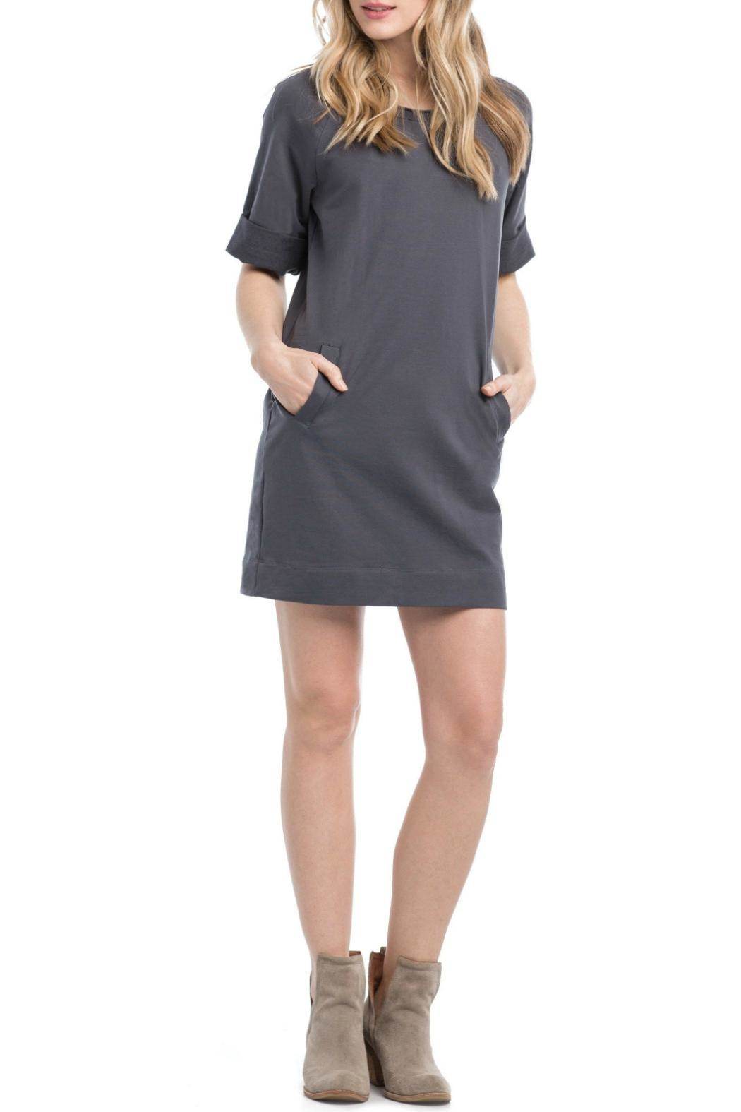 Synergy Organic Pullover Seatshirt Dress - Main Image