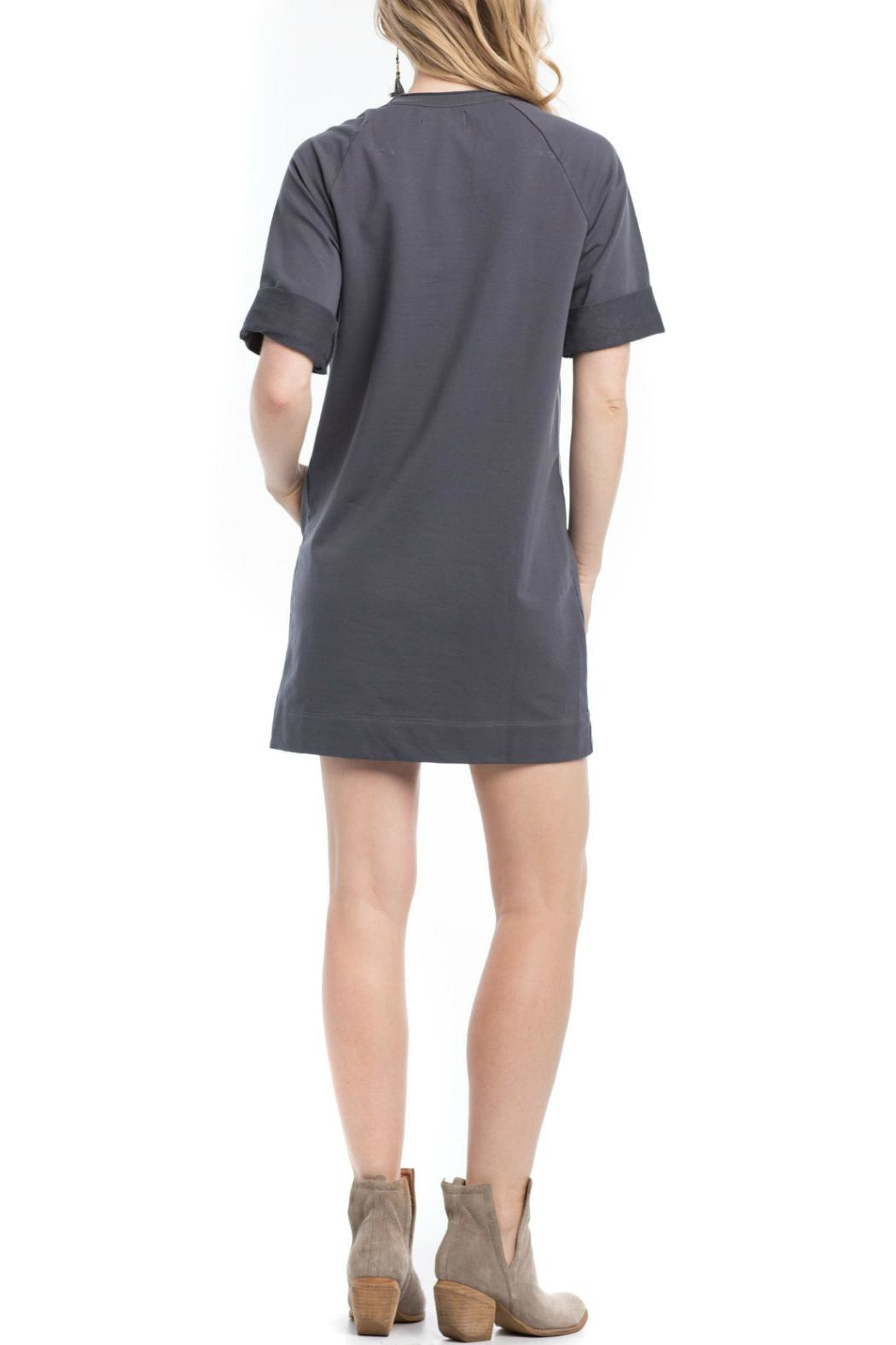 Synergy Organic Pullover Seatshirt Dress - Front Full Image