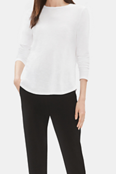 Eileen Fisher SYSTEM ORGANIC COTTON SLUB ROUND NECK TEE - Product List Image