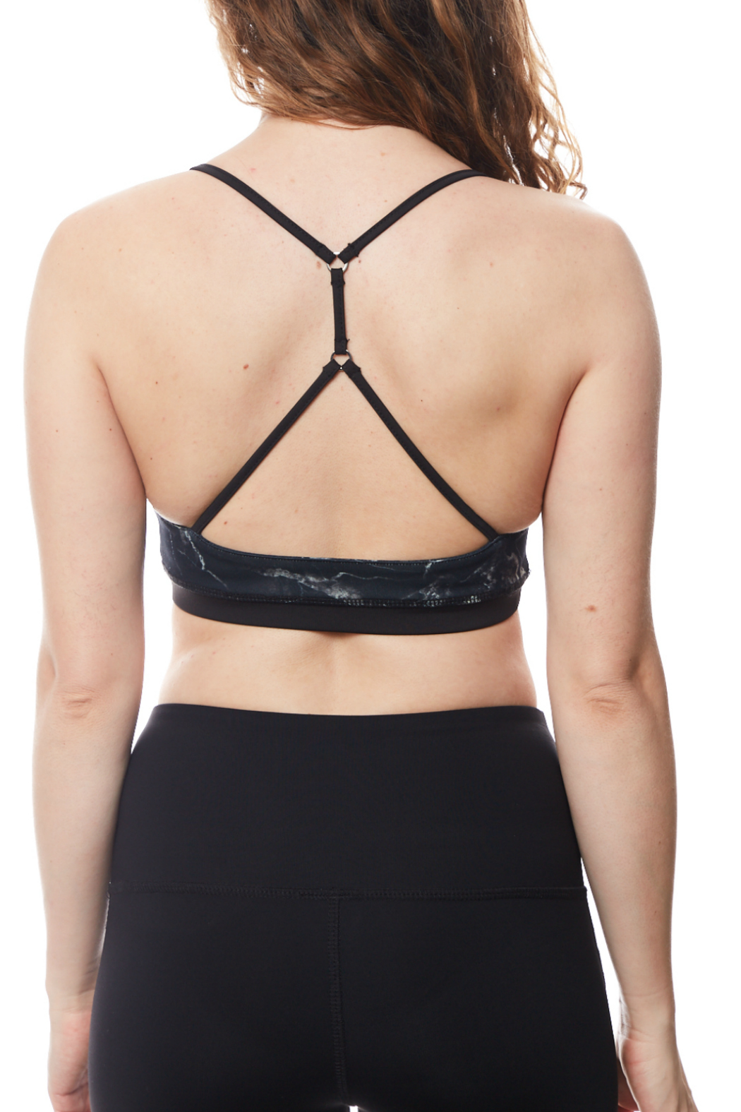 Seams Lovely T back Double Lined Sports Bra - Front Full Image