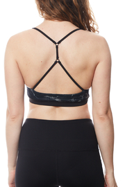 Seams Lovely T back Double Lined Sports Bra - Front full body