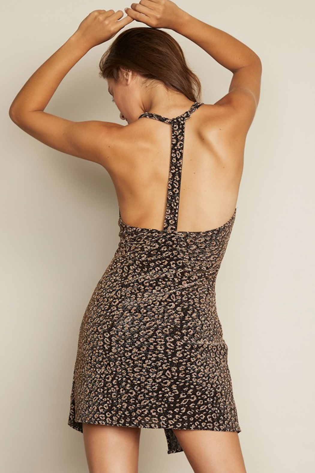 dress forum T Back Leopard Dress - Front Full Image