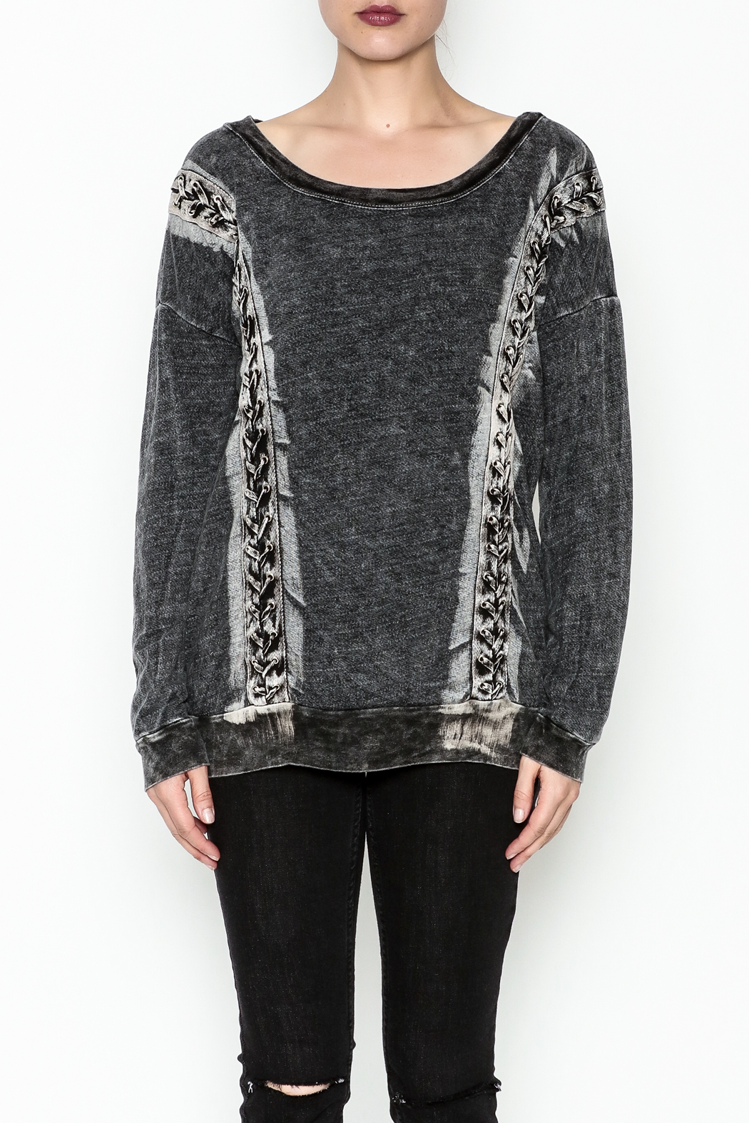T. Party Mineral Wash Lace Sweatshirt - Main Image