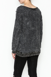 T. Party Mineral Wash Lace Sweatshirt - Back cropped