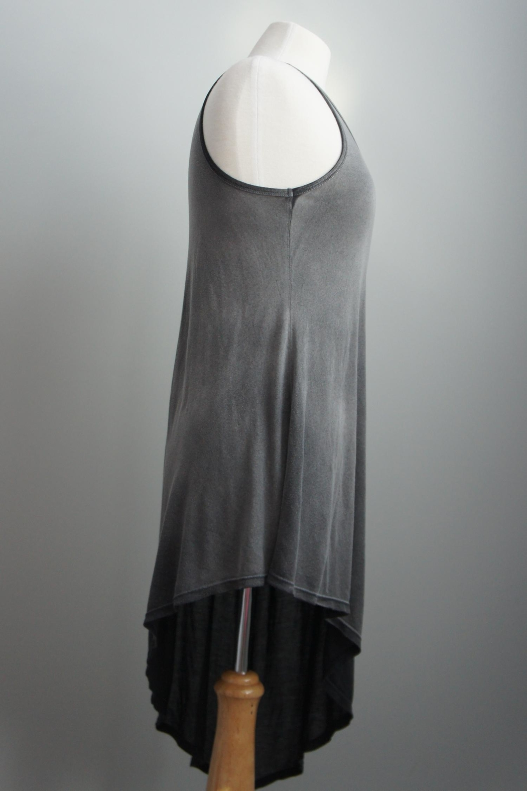 T-Party Fashion Asymmetric Racerback T-Dress - Side Cropped Image
