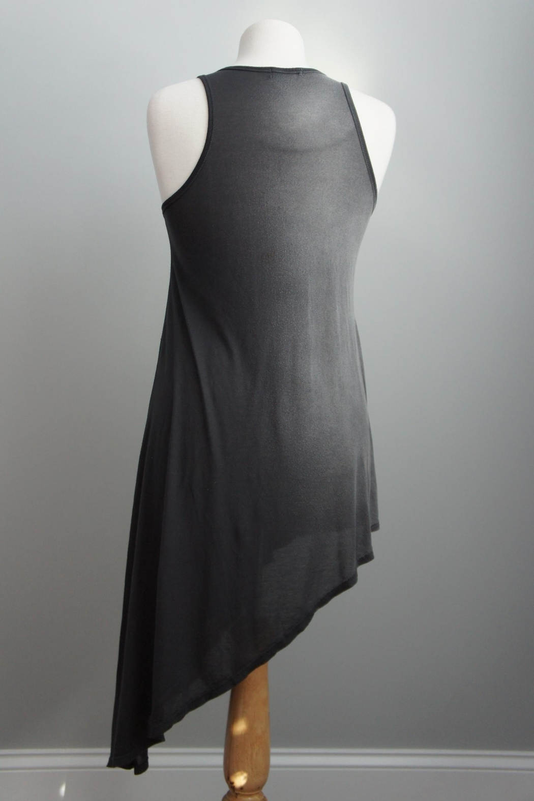 T-Party Fashion Asymmetric Racerback T-Dress - Front Full Image