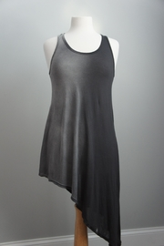T-Party Fashion Asymmetric Racerback T-Dress - Front cropped