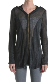 T-Party Fashion Black Fishnet Jacket - Product Mini Image