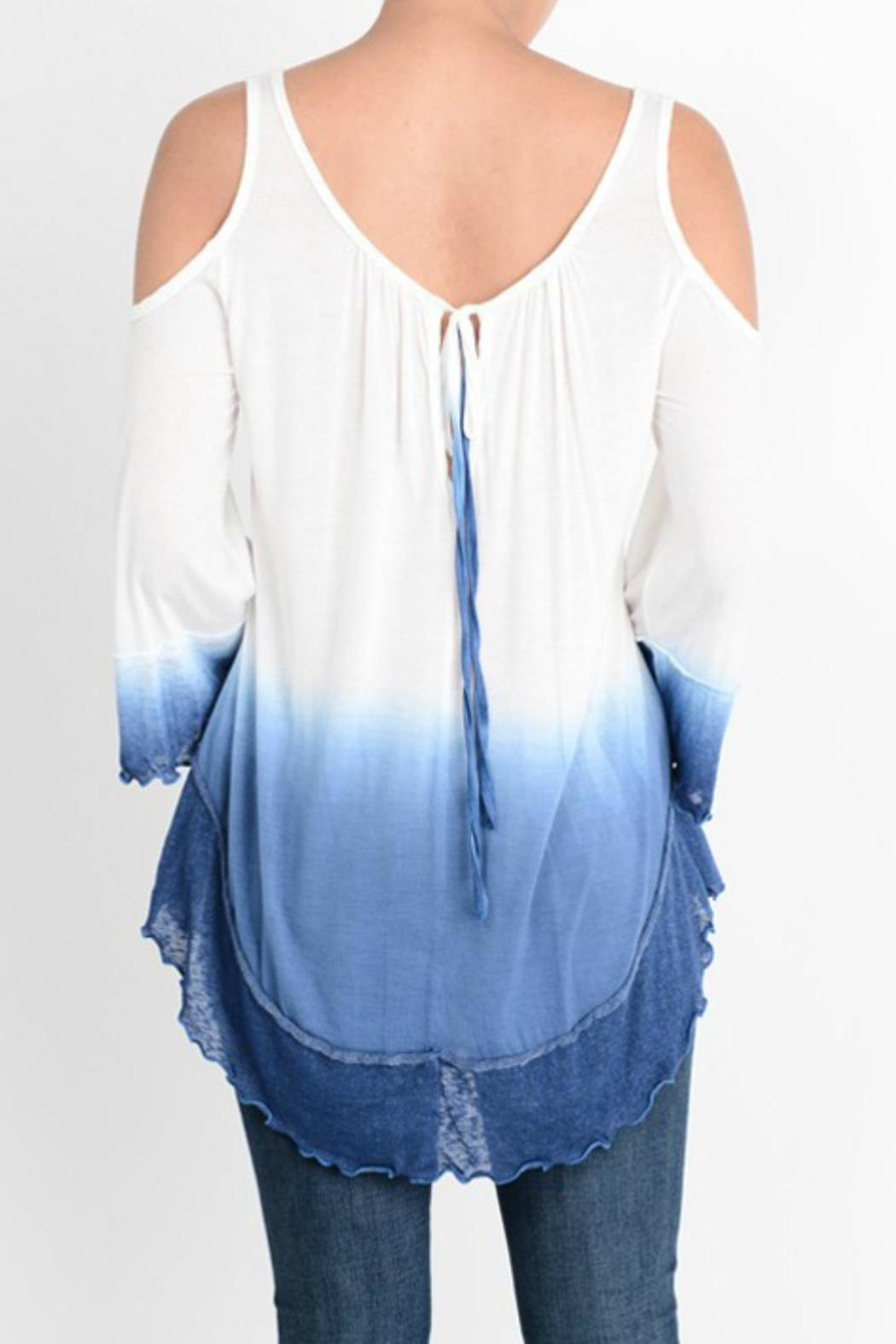 12e2cbde9e0ea T-Party Fashion Cold Shoulder Tiedye Top from Wyckoff by Bedford ...