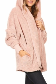 T-Party Fashion Fuzzy Hooded Jacket - Side cropped