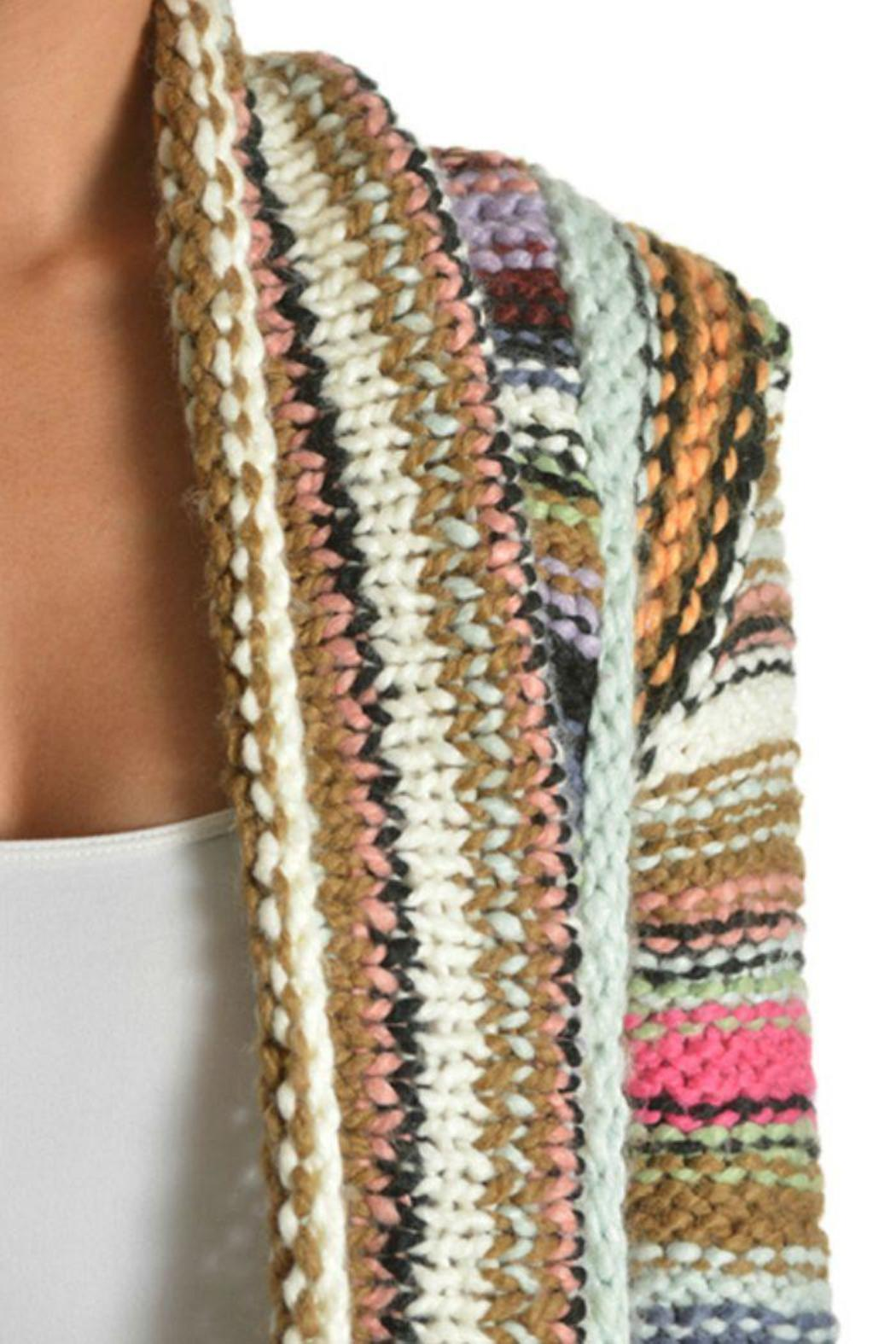 T-Party Fashion Multi-Color Knit Cardigan - Back Cropped Image