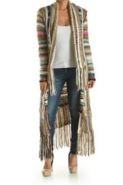T-Party Fashion Multi-Color Knit Cardigan - Front cropped