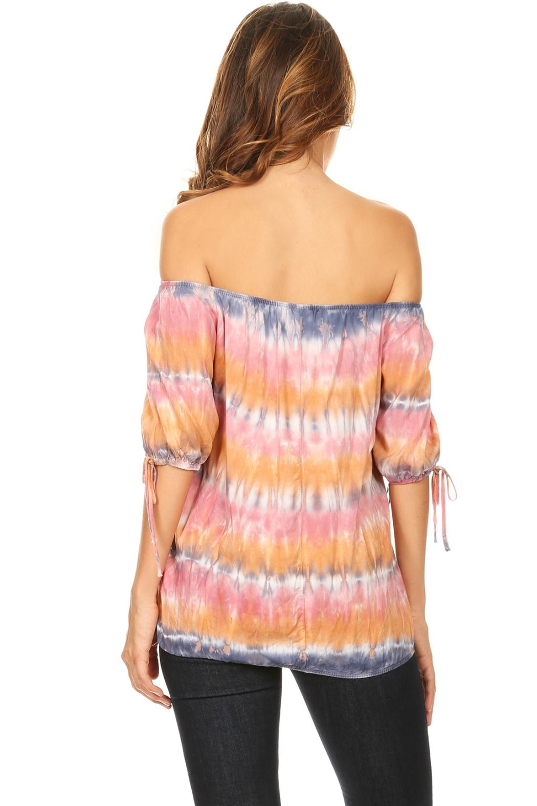 T-Party Fashion Off The Shoulder Colors - Front Full Image