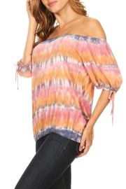 T-Party Fashion Off The Shoulder Colors - Back cropped