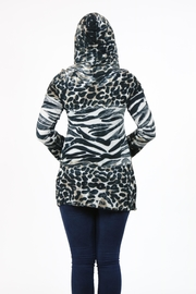 T-Party Fashion Print Hooded Tunic - Other