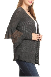 T-Party Fashion Ruffle Sweater Cardigan - Side cropped