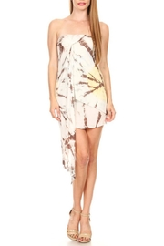 T-Party Fashion Tie Dye Dress/skirt - Front cropped