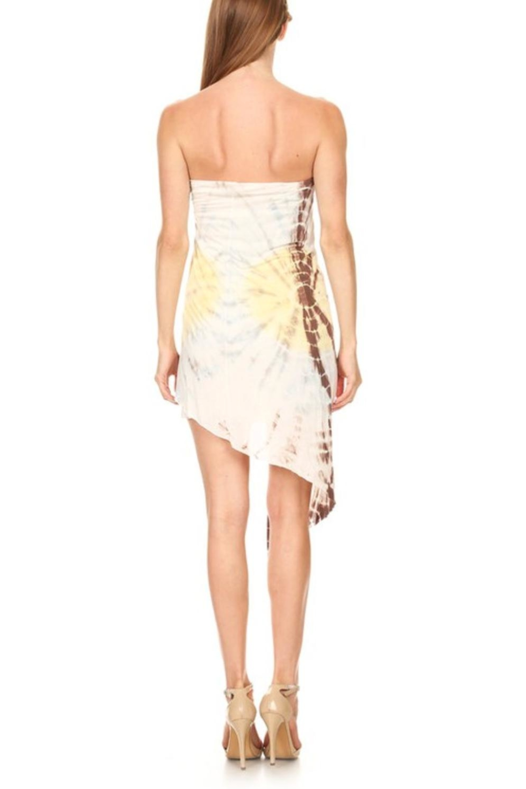 T-Party Fashion Tie Dye Dress/skirt - Front Full Image