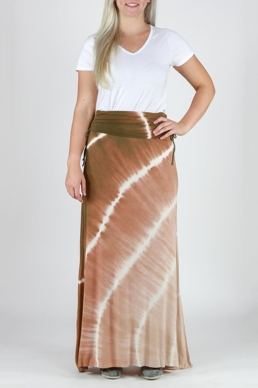 T-Party Fashion Tie Dye Maxi Skirt - Main Image