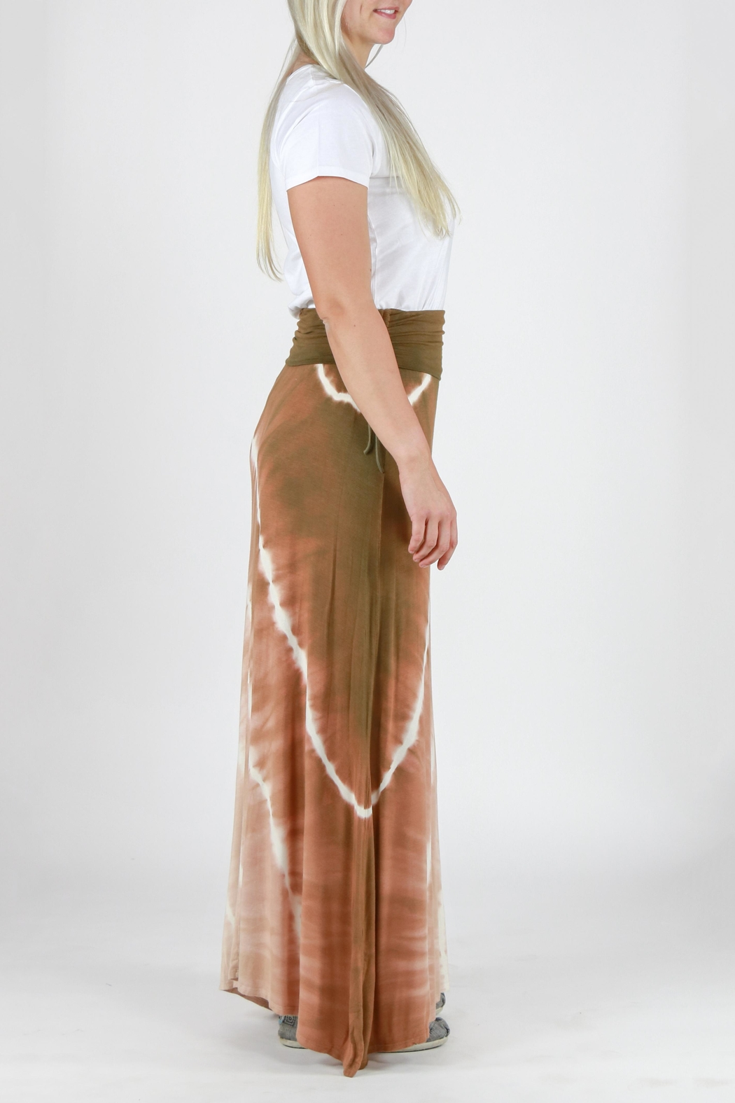 T-Party Fashion Tie Dye Maxi Skirt - Side Cropped Image