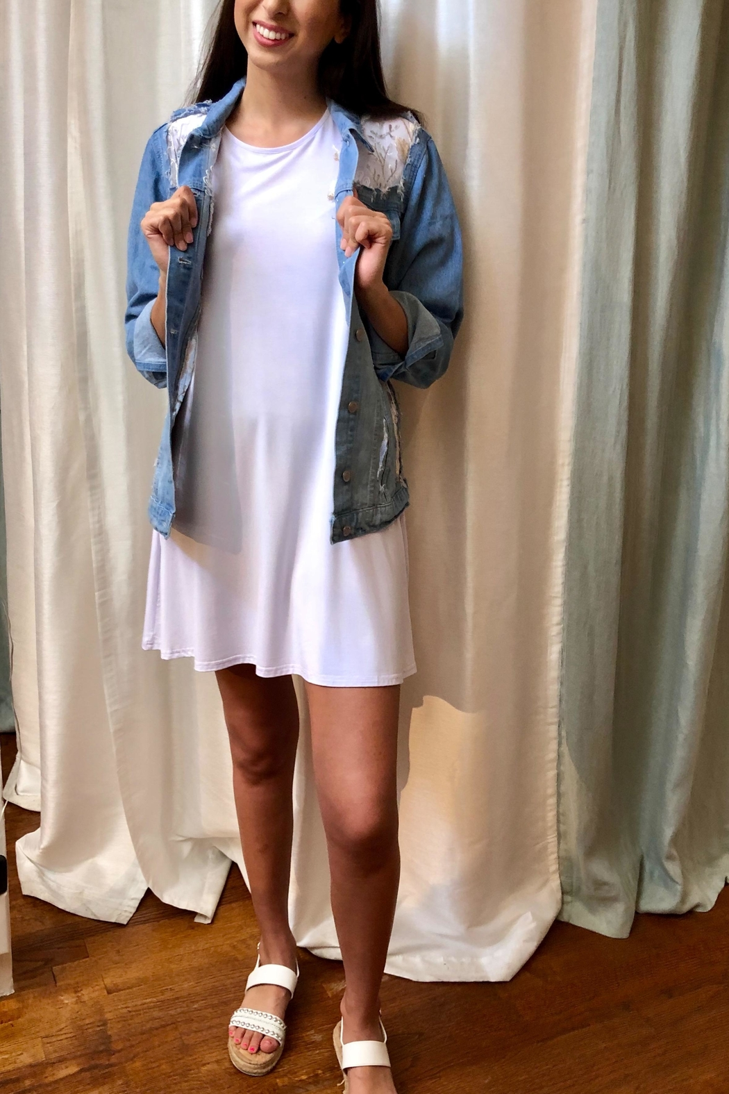 Aryeh T-Shirt Dress - Side Cropped Image
