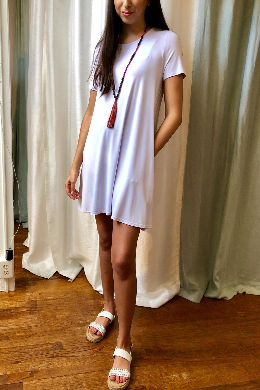 Aryeh T-Shirt Dress - Front Full Image