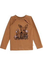 Wheat T-Shirt Flock Deer - Front cropped