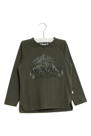 Wheat T-Shirt Mountains - Front cropped