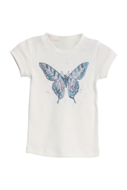 Wheat T-Shirt Watercolour Butterfly - Front cropped