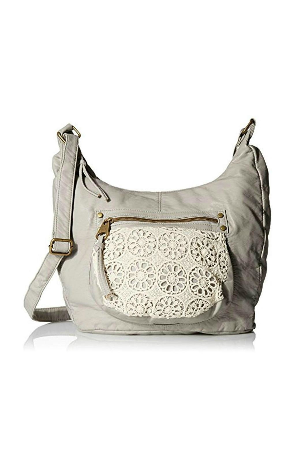 T-Shirt & Jeans Gray Hobo Crossbody - Front Cropped Image