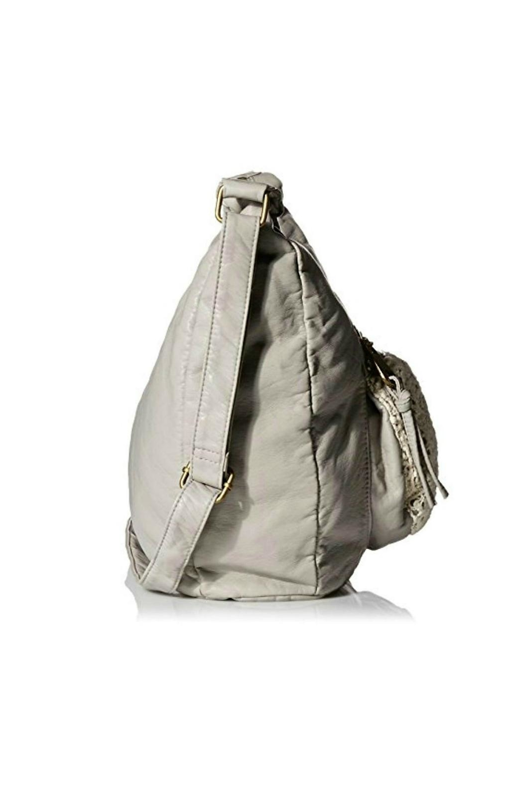 T-Shirt & Jeans Gray Hobo Crossbody - Side Cropped Image