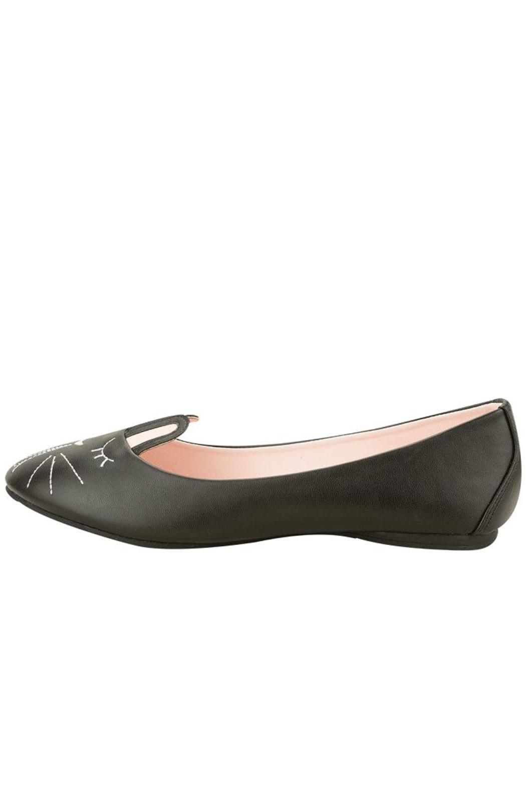 T.U.K. Shoes Black Bunny Flat - Front Cropped Image