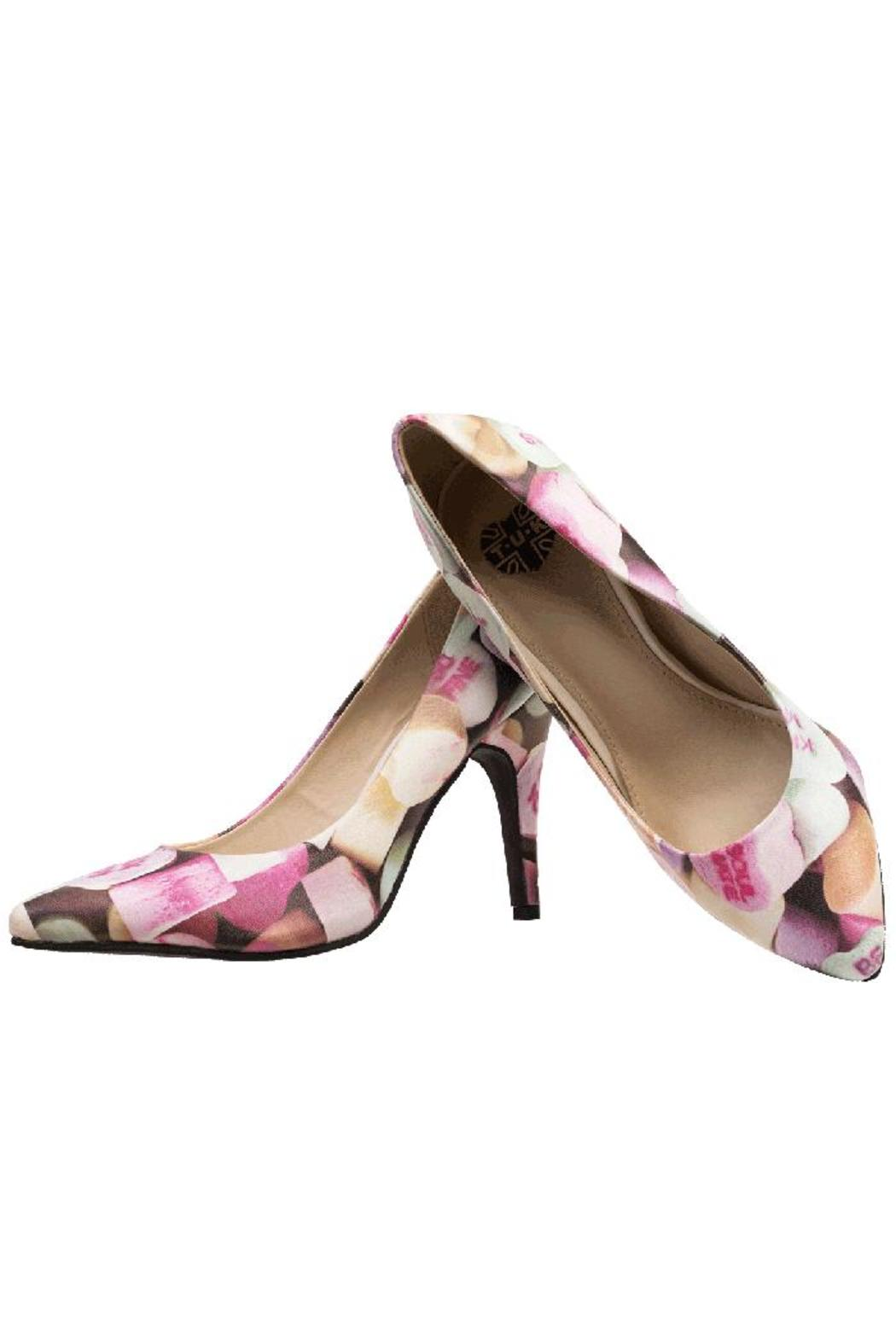 T.U.K. Shoes Candy Hearts Heels - Front Full Image