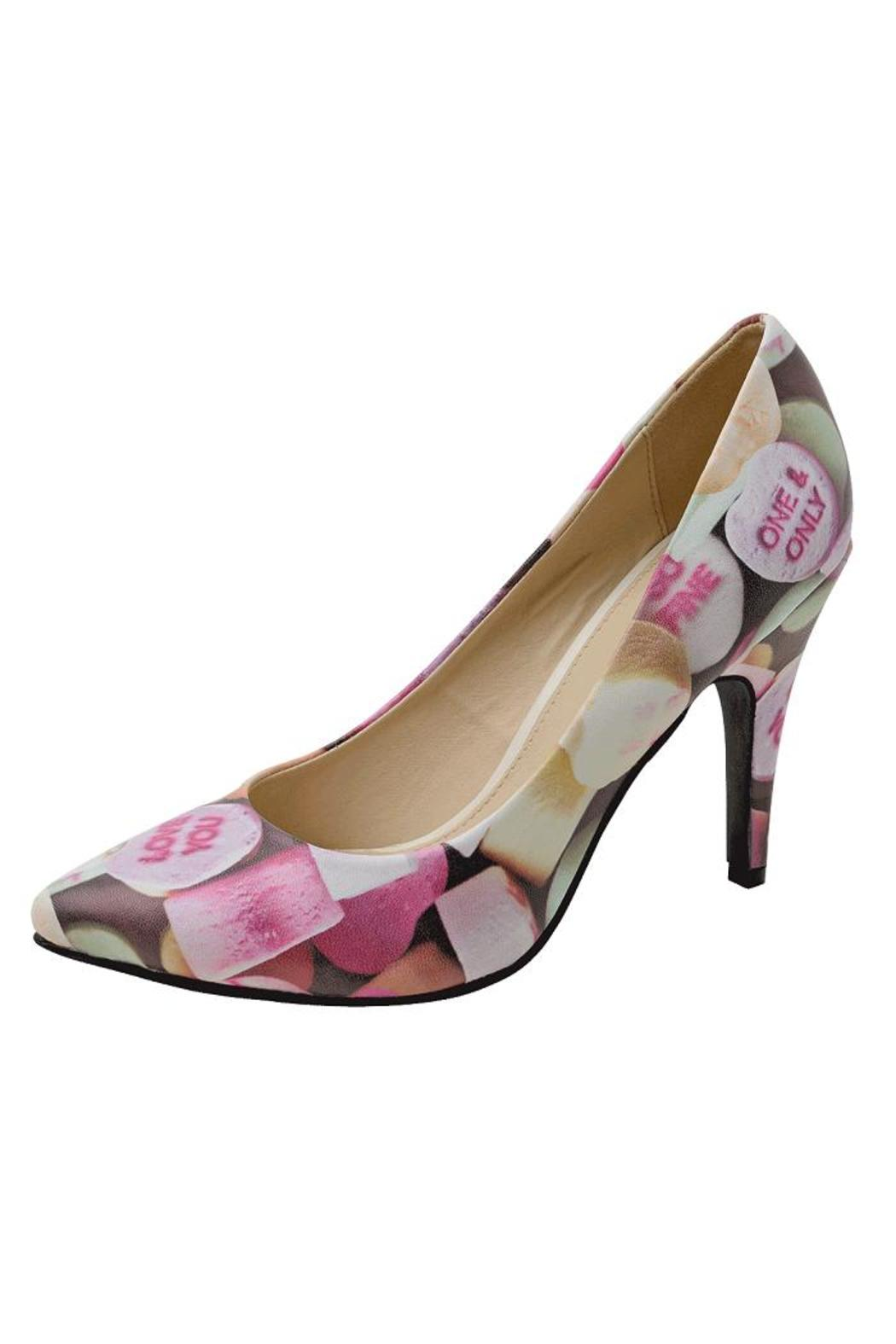 T.U.K. Shoes Candy Hearts Heels - Side Cropped Image