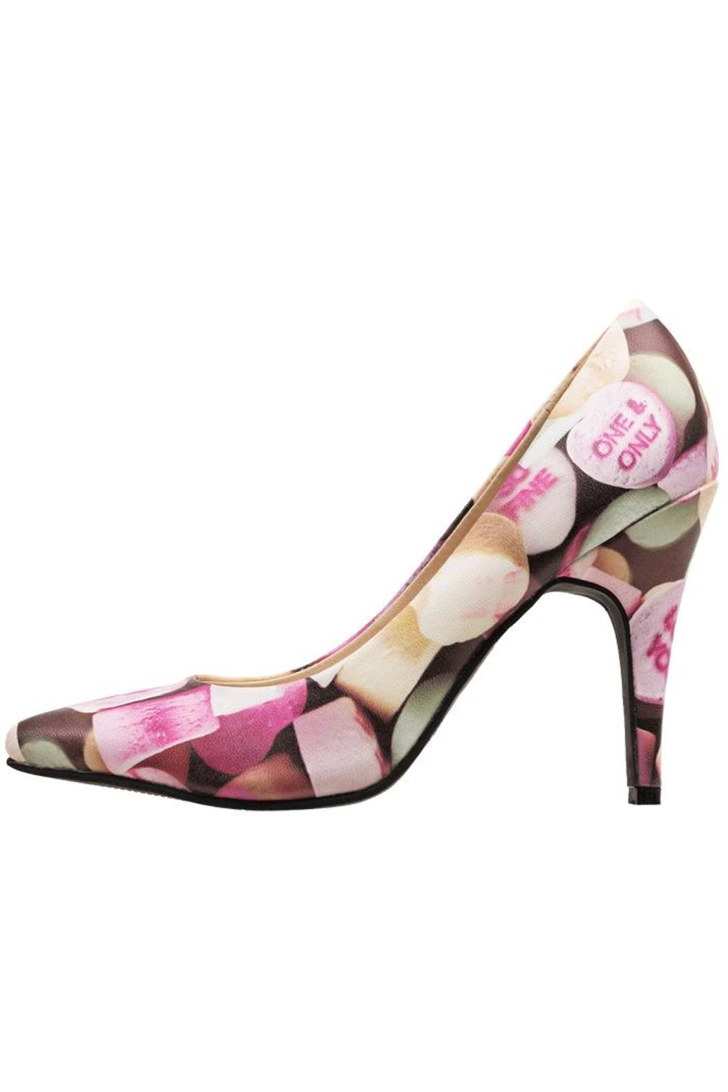 T.U.K. Shoes Candy Hearts Heels - Front Cropped Image